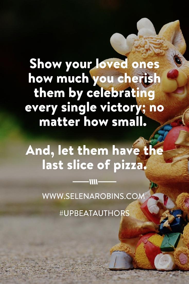 Show love through action. #UpbeatAuthors