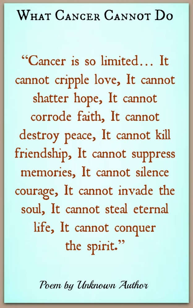 CANCER CANOOT