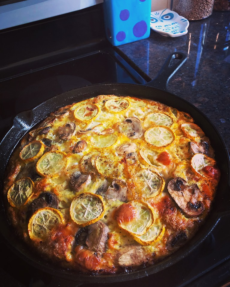 FRITTATA: Potato, Leek, Pepper, Mushroom & Cheese